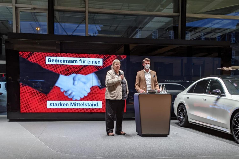BVWM Connect am Car Beate Leibnitz und Patrick Lange bei Moderation